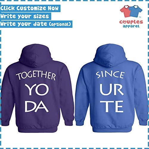She/'s Mine Cosmic Space Hoodie Couples Matching Valentines Anni Fun Sweatshirt