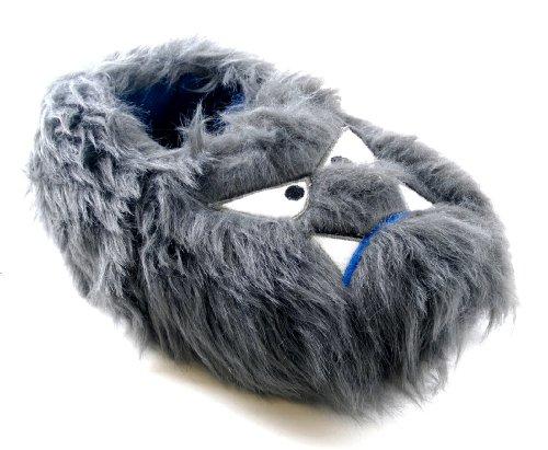 LD Outlet Boys Girls Kids Childrens Novelty Slippers 3D Slipper Boots Plush Furry Monster Grey Size UK 11-12