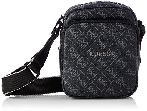 Guess Mini Top ZIP, Backpack für Herren, Black, One Size