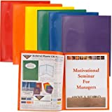 STORE SMART Plastic Archival Folders Primary Colors 6-Pack: 1 Each of Six Bright Colors (R900PCP6)