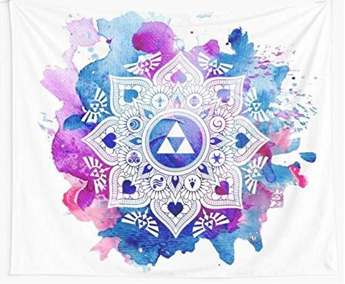 The Legend of A Zelda Mandala Tapiz De Pared Cubierta Toalla De Playa Manta De Picnic Picnic Yoga Mat Decoración del Hogar Toalla Alfombra Manta Colchón Tapiz De Pared-70.9_ × _92.5_Inches_