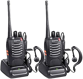 2 Pack Nicama Baofeng BF-888S Ham Two Way Radio Walkie Talkie with Rechargeable Battery Headphone Wall Charger Long Range 16 Channels