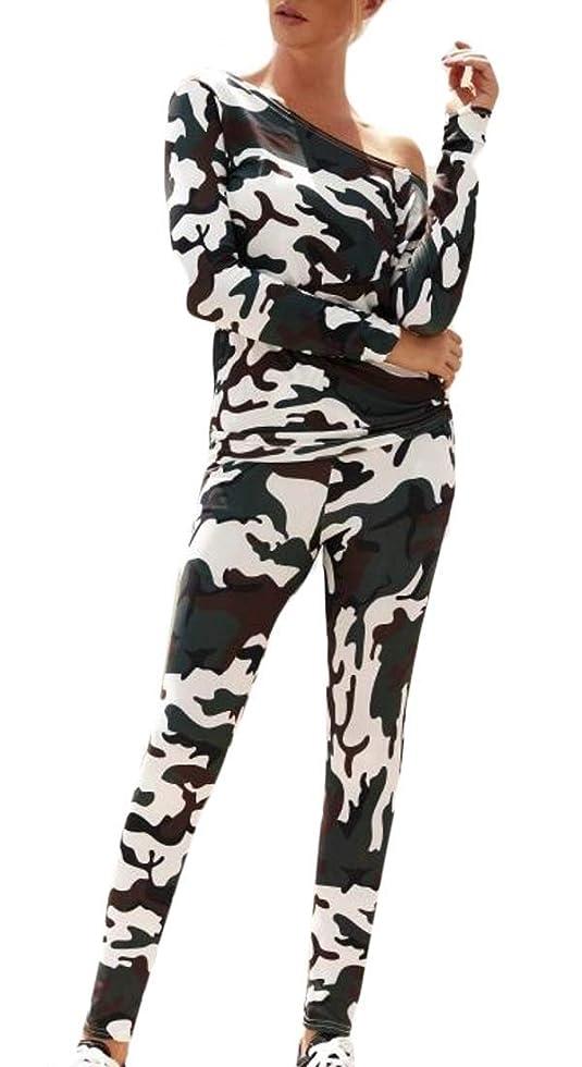 スパイラル私達拍手Women's Two Piece Sweatshirt Top and Sweatpant Set Tracksuit Outfit