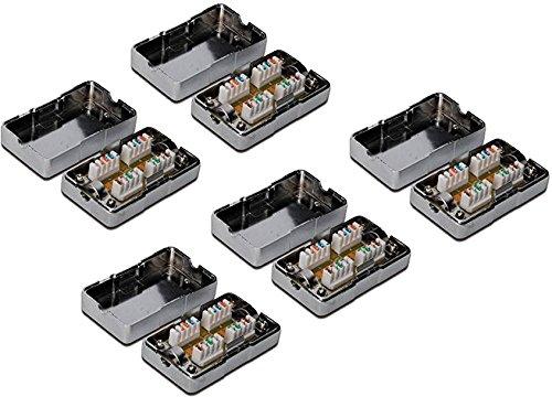 5x DIGITUS Professional Verbindungsmodul für Twisted Pair Kabel, LSA, geschirmt (CAT 6)