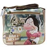 Disney Borsa da Donna/Bambina Brontolo Beige Sette Nani Tracolla Grande Originale Disney