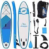 Tablas Paddle Surf, Paddle Surf Hinchable Tabla Surf Set 300x76x15cm Carico di 150kg Sup Kit con Remo de Aluminio + Bomba +Accesorios Completos (Tipo A Azul)