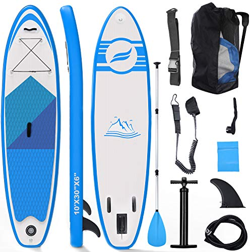 Tablas Paddle Surf, Paddle Surf Hinchable Tabla Surf Set 300x76x15cm Carico di 150kg Sup Kit con Remo de Aluminio + Bomba...
