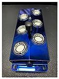 juqingshanghang1 nebón 6 Humidificador de Cabeza Generador de la Niebla Atomización de la Industria de la Cabeza de la Industria de los Peces del Estanque del Paisaje del atomizador (Color : Blue)