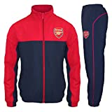 Arsenal FC Official Soccer Gift Mens Jacket & Pants Tracksuit Set Medium Red