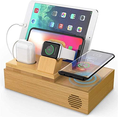 OH 5 en 1 Tenedor de Teléfono Móvil Conjuntos de Teléfono Móvil 12W Usb Tablet Tablet Stand Fit para Iphone 11 Pro Max Xs Max / 8 para Y Airpods Disipación de calor rápido