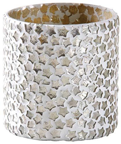 Teelichthalter aus Glas mit Sternen