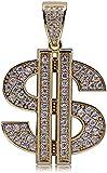 Signo de dólar $ Colgante Micro-set Zircon Wealth Collar-Dorado