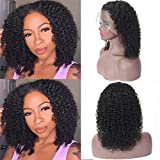 13x4 Lace Front Wigs Human Hair Pre Plucked, Premium Brazilian Curly Lace Frontal Wigs Human Hair with Baby Hair, Wet and Wavy Curly Lace Wigs for Black Women (12''Curly Wigs)