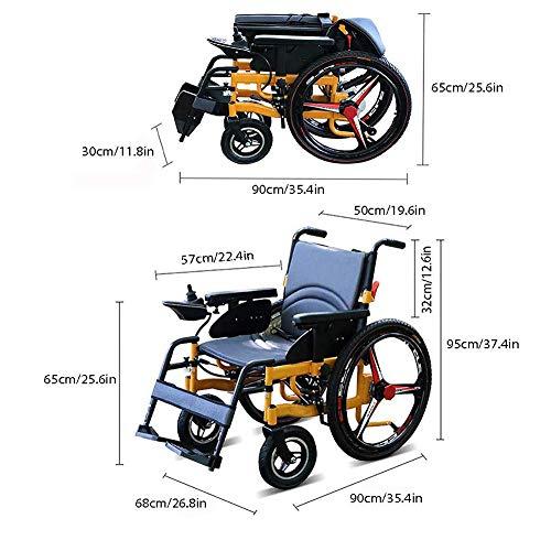 AYHa Leichte, zusammenklappbare Elektrorollstühle, cooler, langlebiger Super Wheel-Rollstuhl, sicher und einfach zu fahren für zusätzlichen Komfort, 20-Lithium-Batterie,20alithiumbatterie
