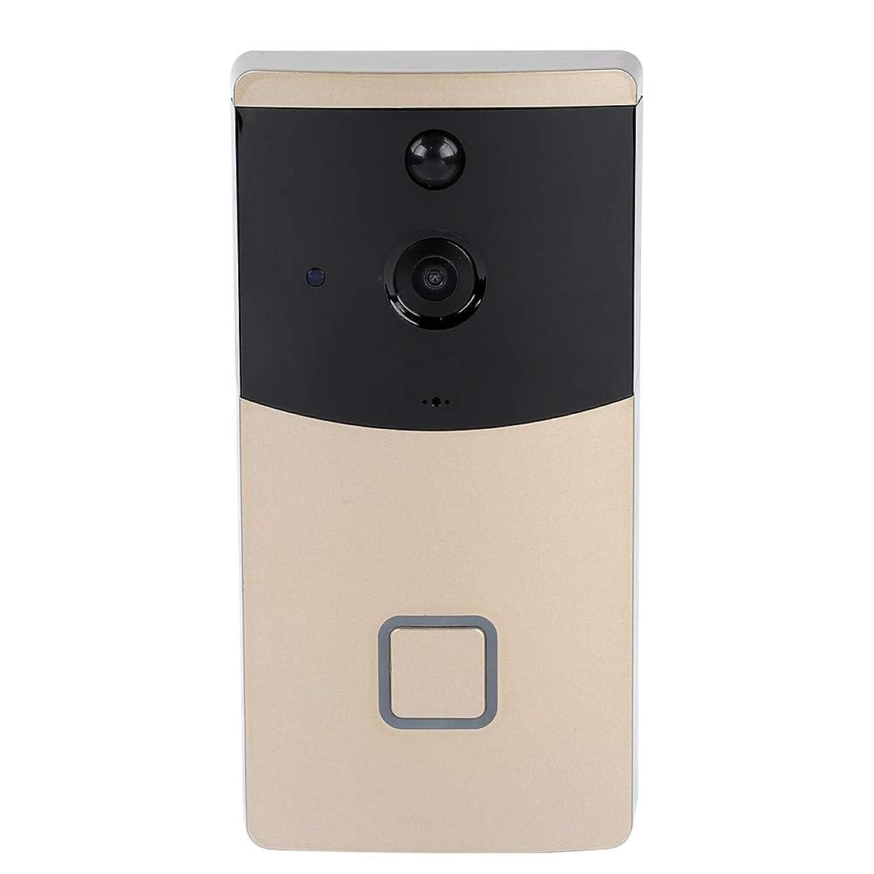 あいまいさサバント市町村Richer-R ビデオドアベル 720 P Wifi IPスマートワイヤレスチャイム 166度広角インターホン ドアカメラ 呼び出し可視チャイム リアルタイムビデオ会話機能 ワイヤレスホームセキュリティ