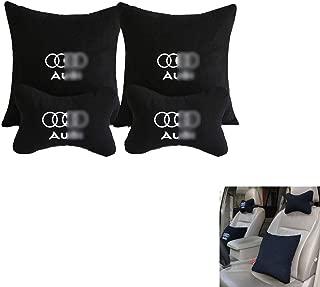 LAUTO 1Pack Schwarze Carbon-Faser Nackenkissen Auto-Sitzkissen-Kissen-Kopfst/ützen