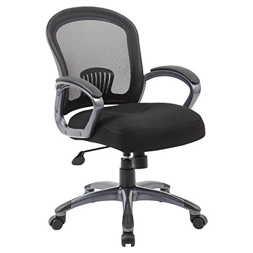 Boss Office Products (BOSXK) Mid Back Ergonomic Task Chair, Black