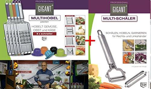 Novabest Gigant Multihobel + V-Messer + Edelstahl-Schäler Set (Edelstahl)