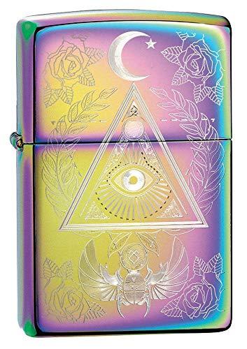 Zippo Eye of Providence Design Multi Color Pocket Lighter, Multi Color Eye of Providence, One Size