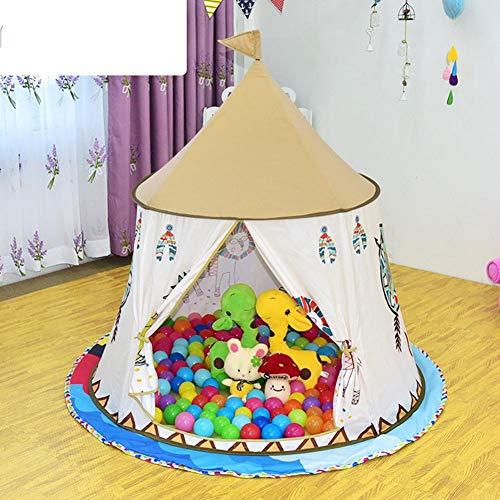 Asixxsix Carpa Interior, Carpa para niños Ligera y portátil, Princess Castle Play House Carpa Grande Carpa Plegable para niños en Interiores y Exteriores