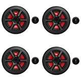MTX Terminator 6.5 Inch Woofer Cone Component Speaker Pair with 45 Watt RMS (4 Pack)