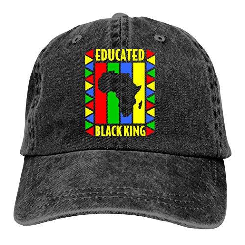 Black History Month Adjustable Baseball Denim Cowboy Cap,Trucker/Dad/Peaked Hat for Womens/Mens