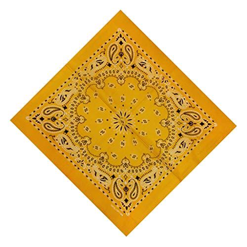 Andouy Bandana Kopftuch Halstuch Paisley Muster Einstecktücher Handgelenk Multifunktionstuch für Damen und Herren (55X55CM.C)