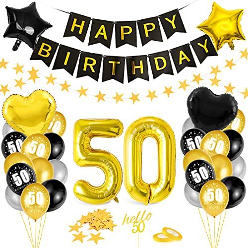 Globos 50 Cumpleaños,Decoración 50 Cumpleaños,Fiesta Cumpleaños 50,Globo de Cumpleaños 50,Globos de Cumpleaños Número 50,Cumpleaños Hombre 50,Kit 50 Cumpleaños Mujeres,Decoraciones Cumpleaños 21 Años