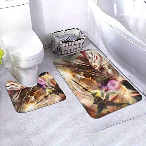 fenrris65 Toukiden Kiwami - Alfombrilla antideslizante para baño, 61 x 90 cm, 2 piezas