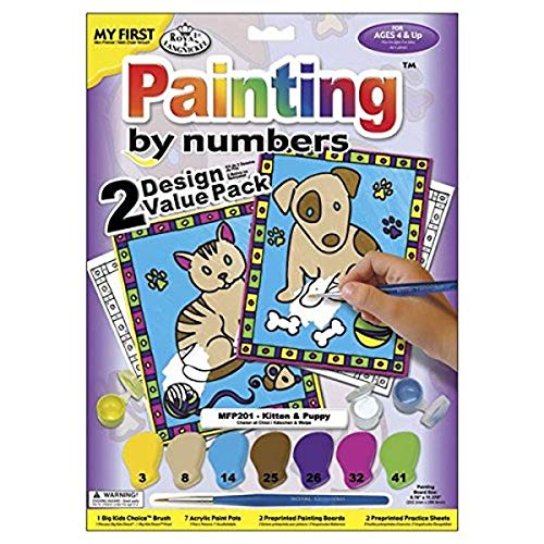 Royal Brush My First Paint by Number Kit, 8.75 by 11.375-Inch, 2/pkg