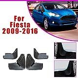 BTSDLXX 4 Pcs Set Coche Guardabarros para Ford Fiesta Hatchback 2009-2016, Delanteros Traseros Goma Barro Aletas Protectores contra Salpicaduras Accesorios