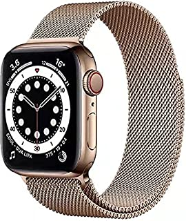 Compatible with Apple Watch Bands 38mm 40mm, Adjustable Stainless Steel Metal Mesh Loop Bracelet Straps Wristbands for iWa...