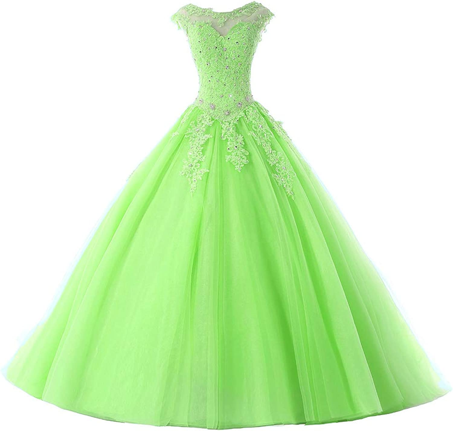 Ball Gown Quinceanera Dresses Tulle Long Prom Party Gowns Sweet 16 Formal Dress