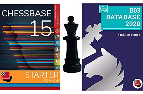 ChessBase 15 - Starter Package: ChessBase 15 Chess Database Management Software Program Bundle with Big Database 2019 and ChessCentral Chess King Flash Drive