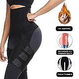 Waist Trainer for Women New 3-in-1 Waist and Thigh Trimmer, Butt Lifter Shaper for Workout Training Fitness Shapewear Body Shaper Belt