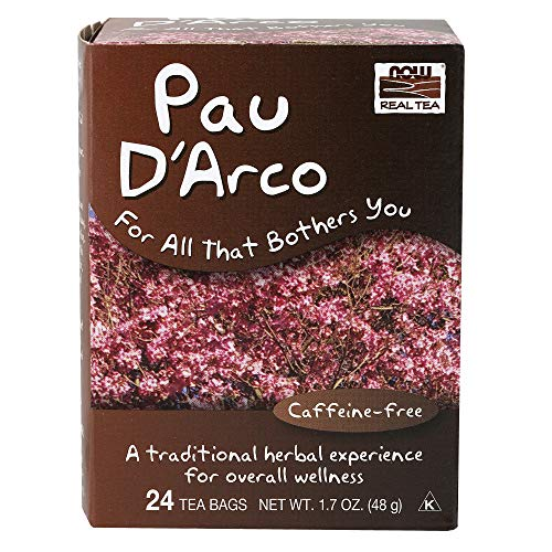 Real Tea, Pau D'Arco, Caffeine-Free, 24 Tea Bags, 1.7 oz (48 g) - Now Foods