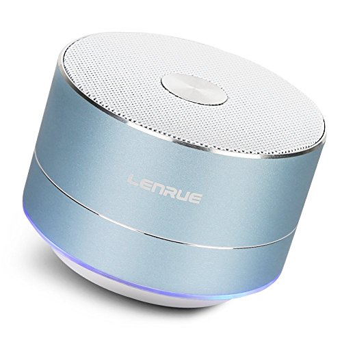 Lenrue Bluetooth スピーカー ポータブル ブルートゥース スピーカー ミニ ワイヤレススピーカー 高音質 低音強化 3W拡声器 マイク内蔵、LEDライト、AUXケーブル、TFカード、Micro USB、iPhone/iPad/Android