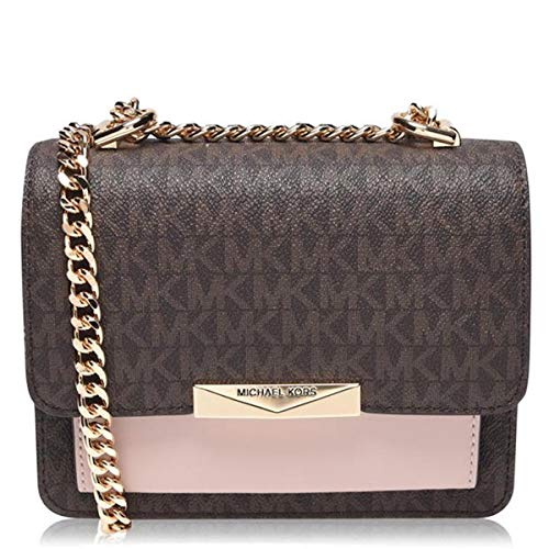 Michael Kors MICHAEL by Jade Extra Small Brown Logo Crossbody Bag Braun Eine Größe