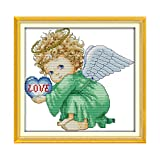 Lilongp Kit de Broderie au Point de Croix pour bébé garçon Motif Ange