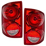 Driver and Passenger Taillights Tail Lamps Replacement for Dodge Pickup Truck 55077605AC 55077604AC