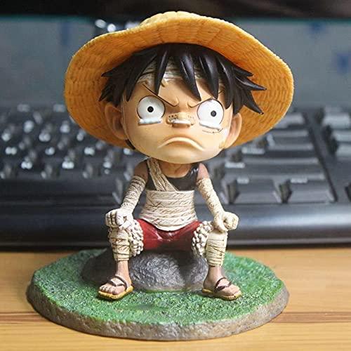 ioth Figuras de acción de Luffy Luffy de la Infancia One Piece Modeling Anime Hero Carácter Modelo Modelo de Juguete Colección Decoración Regalo Cumpleaños 12 cm