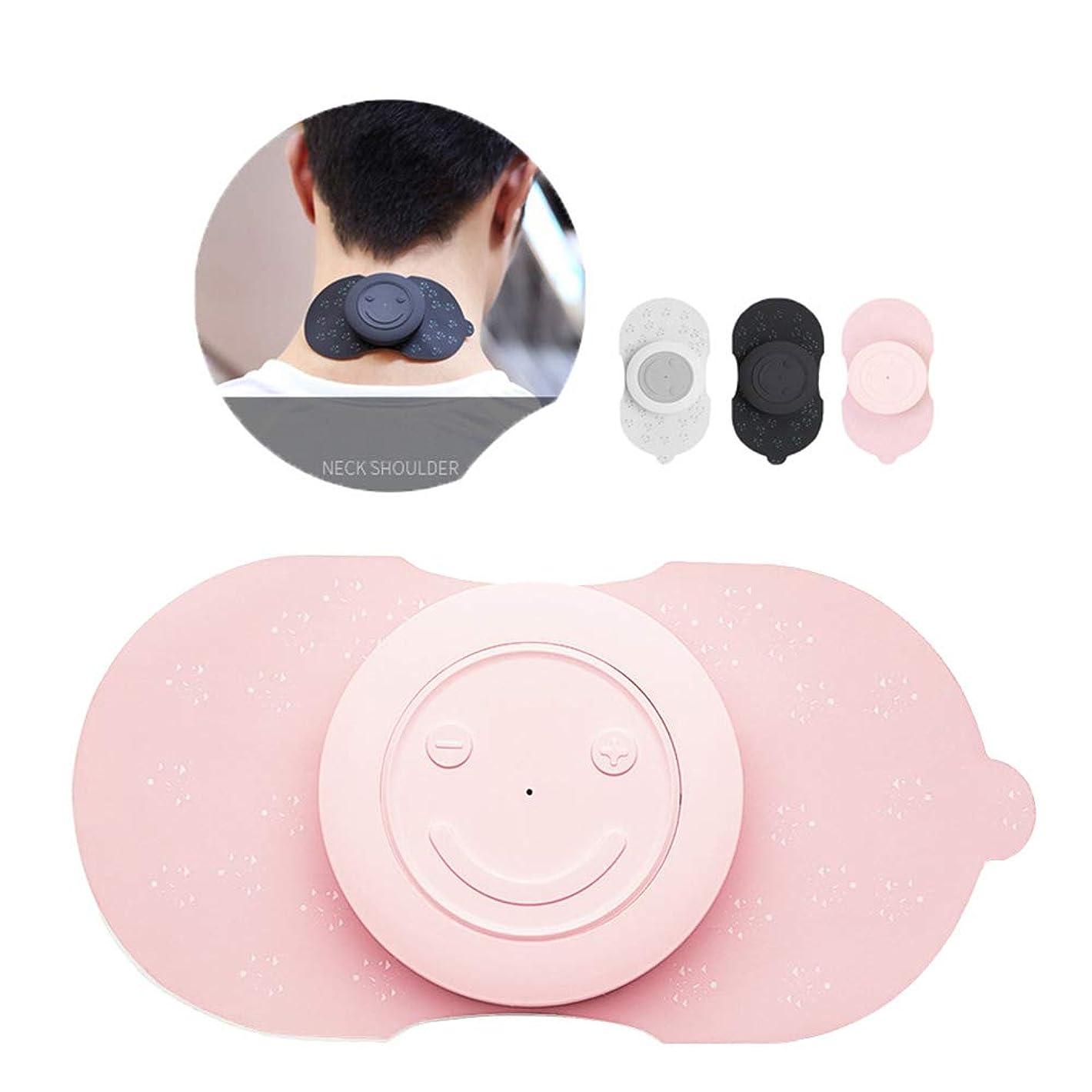 ページ子供時代暴露する背中の痛みのためのワイヤレスマッサージャーTENマシン、痛みの軽減のための充電式TENSマシン-EMS TENSユニットミニマッサージャー,ピンク