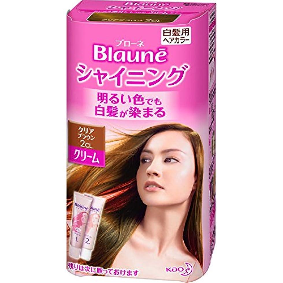 自宅で最初は正確な花王 ブローネ シャイニングヘアカラー クリーム 1剤50g/2剤50g(医薬部外品)《各50g》<カラー:クリアBR>