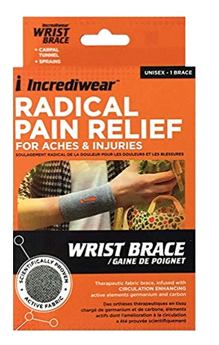 Incrediwear Wrist Brace Wrist Brace Unisex Small or Medium, Grey