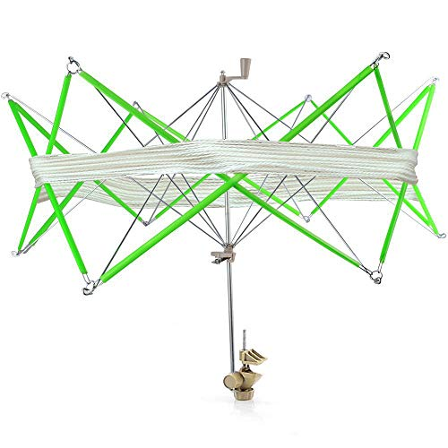 Windaze Umbrella Swift Yarn Winder, Hand Operated Yarn Ball Winder Spinner Roller for Wool Yarn Winding, Knitting Tool, String Winder Holder Hanks Skeins Line