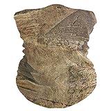 BK Creativity Windproof Face Shield,Bandeau De Pyramide Égyptienne Vintage, Guêtres De Cou De Preuve De Sable pour l'escalade De Gym,25x50cm