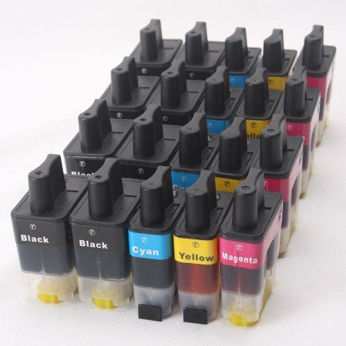 20x Druckerpatronen kompatibel zu Brother LC900 LC950 schwarz cyan magenta gelb für Brother DCP-110C DCP-115C DCP-340CW MFC-210C MFC-215C MFC-820CW MFC-3340C MFC-5440CN FAX-1940C FAX-2440C