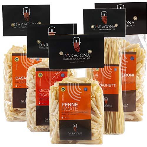 Pasta D'Aragona Gragnano Igp, Pacco Procida Formati Misti - 5 Pezzi Da 500 Gr
