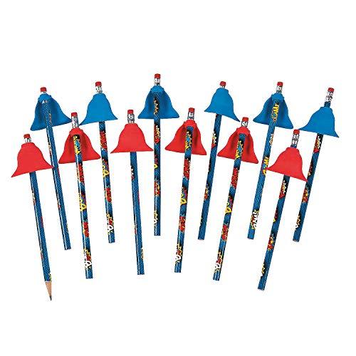 Superhero Pencil with Cape - 12 Pieces