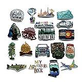 Best Hiking Stickers - Mizzuco Vinyl Stickers Waterproof Adventure Stickers 66 Pieces Review